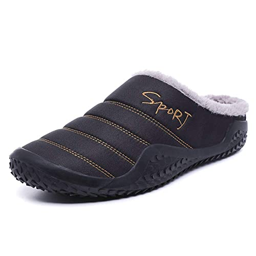 325393babcc17 SITAILE Indoor Outdoor Slippers for Women Men Fur Home Slippers Waterproof  Winter Slip Ons House Shoes