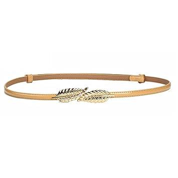Easy Go Shopping Cinturón de Mujer Cinturón de Piel de Mujer Cinturón Fino  Cinturones Finos para ea8f6d5ac8f9
