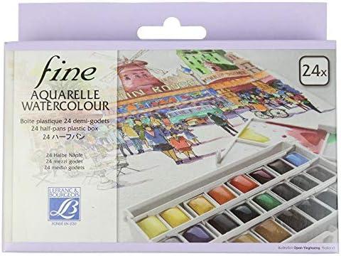 Lefranc & Bourgeois 601661 - Caja de 24 acuarelas con paleta ...