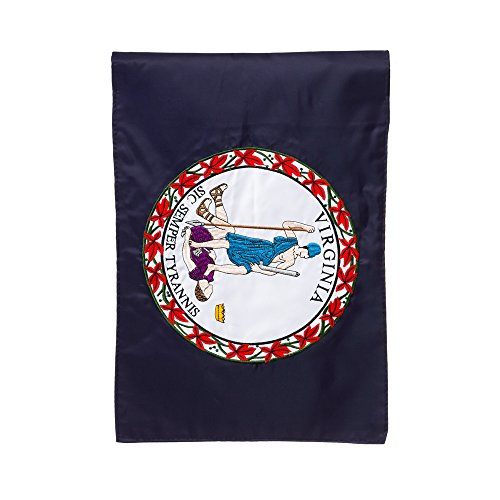 Print Virginia State Applique 2-Sided Garden Flag Size: 18
