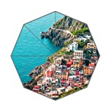 Flipped Summer Y Houses in Riomaggiore, Cinque Terre, Italy Customized Art Prints Umbrella