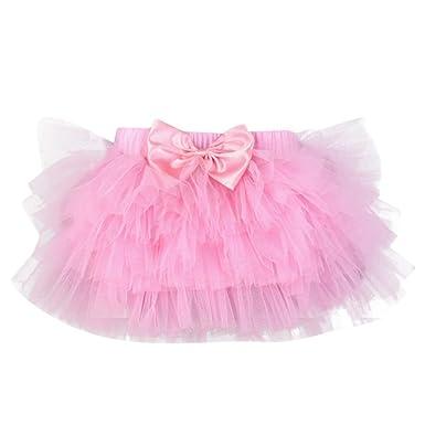 d6da59804337d Longra Robes Fille Jupes Fille Robes bébé Fille Jupe à Carreaux Jupes à  Volants Jupes à