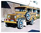 1965 Sarao Jeep Jeepney Philippines Taxi Photo Poster