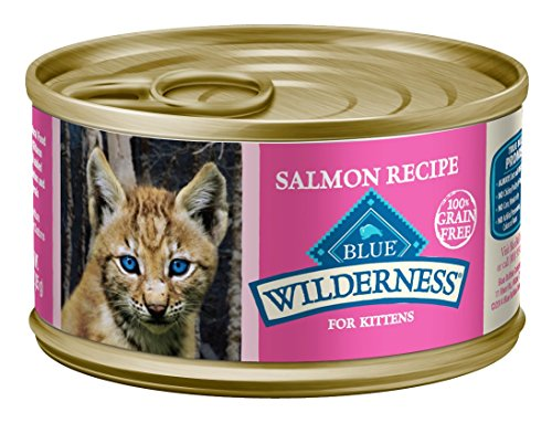 Blue Wilderness Kitten Grain Free Salmon Pate Wet Cat Food 3-Oz (Pack Of 24)