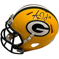 $109 » Aaron Jones Autographed Green Bay Packers Signed NFL Football Mini Helmet PSA DNA COA 2
