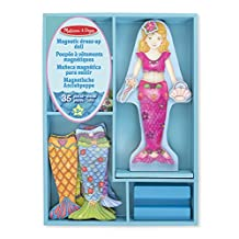 Melissa & Doug Merry Mermaid Wooden Dress-Up Doll and Stand - 35 Magnetic Accessories