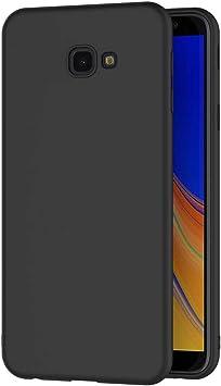 AICEK Funda Samsung Galaxy J4 Plus, Negro Silicona Fundas para Samsung Galaxy J4+ Carcasa Galaxy J4 Plus Negro Silicona Funda Case (6,0 Pulgadas): Amazon.es: Electrónica