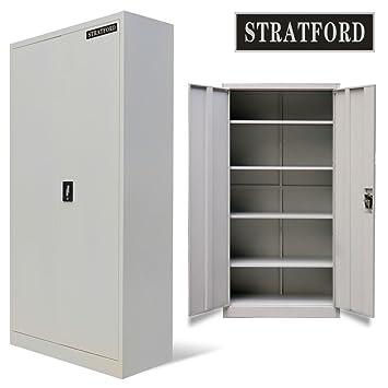 Stratford Metall Schrank 2 Turen 5 Einlegeboden 195 Cm Hoch