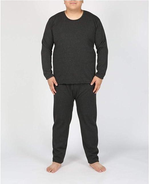 SGJKG Intimo Termico da Uomo Lungo in Cotone Invernale Pantaloni Comodi per Camicia a Righe Set pi/ù Spessi Caldi pi/ù Taglie