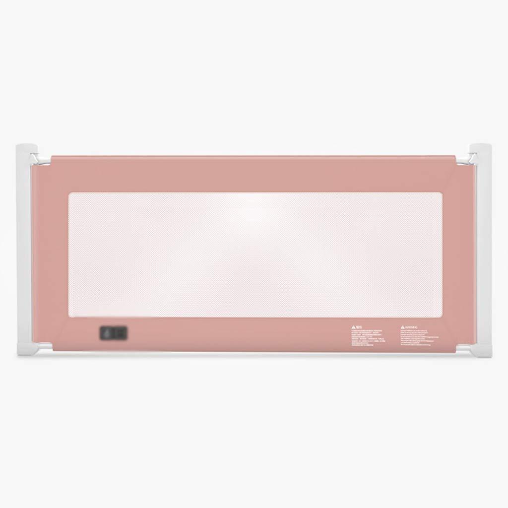 CSQ 垂直リフトフェンス、ベビーコットベッドサイドアンチ秋ソフトバッフルマルチファンクションベッドアンチフォールズ保護フェンスベッドレニング、1.2-2.2M 子供の遊び場 (Color : Pink, Size : 220*80CM) 220*80CM Pink B07TW8FFY5
