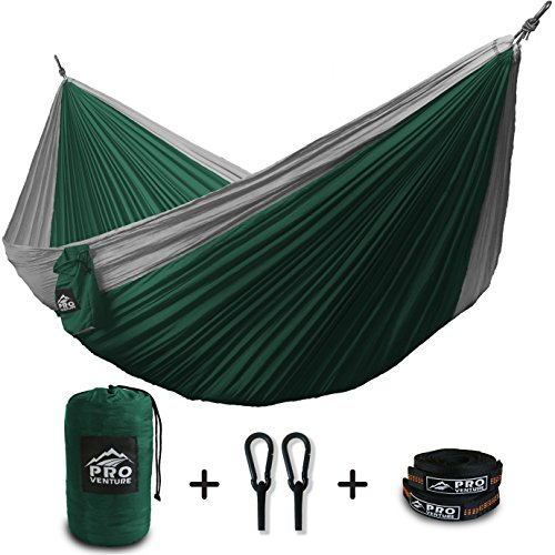 proventure double camping hammock  u0026 free 9ft straps   lightweight  u0026  pact   for backpacking the beach back yard travel or any adventure  proventure double camping hammock  u0026 free 9ft straps   lightweight      rh   all4hiking
