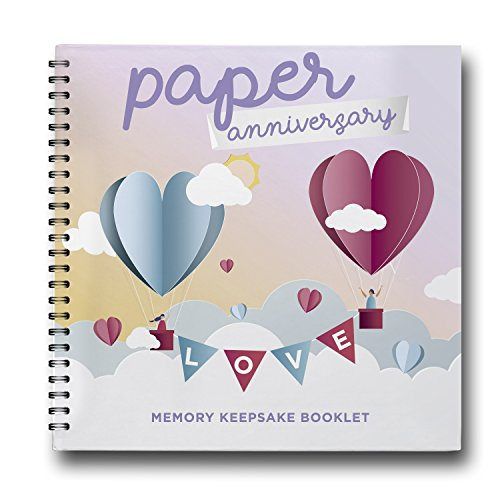 Love Is In The Air, First Anniversary Gift, Paper Anniversary Edition, 1st Year Wedding Anniversary Gifts For Couples. Modern Booklet For Busy Couples, Ready To Give As A Present. Just Married Present