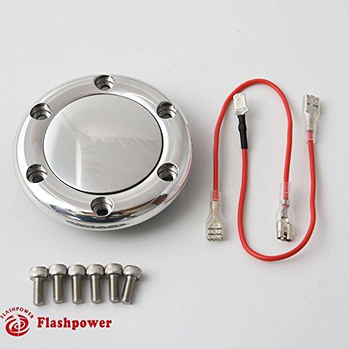 Billet Horn Button for 6 Bolt Steering Wheel Flashpower,MoMo,NRG High -