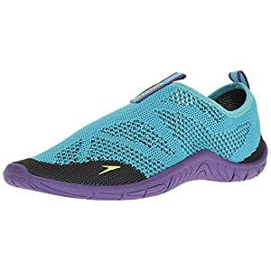 Speedo Women's Surf Knit Athletic Water Shoe, Teal, 10 C/D US
