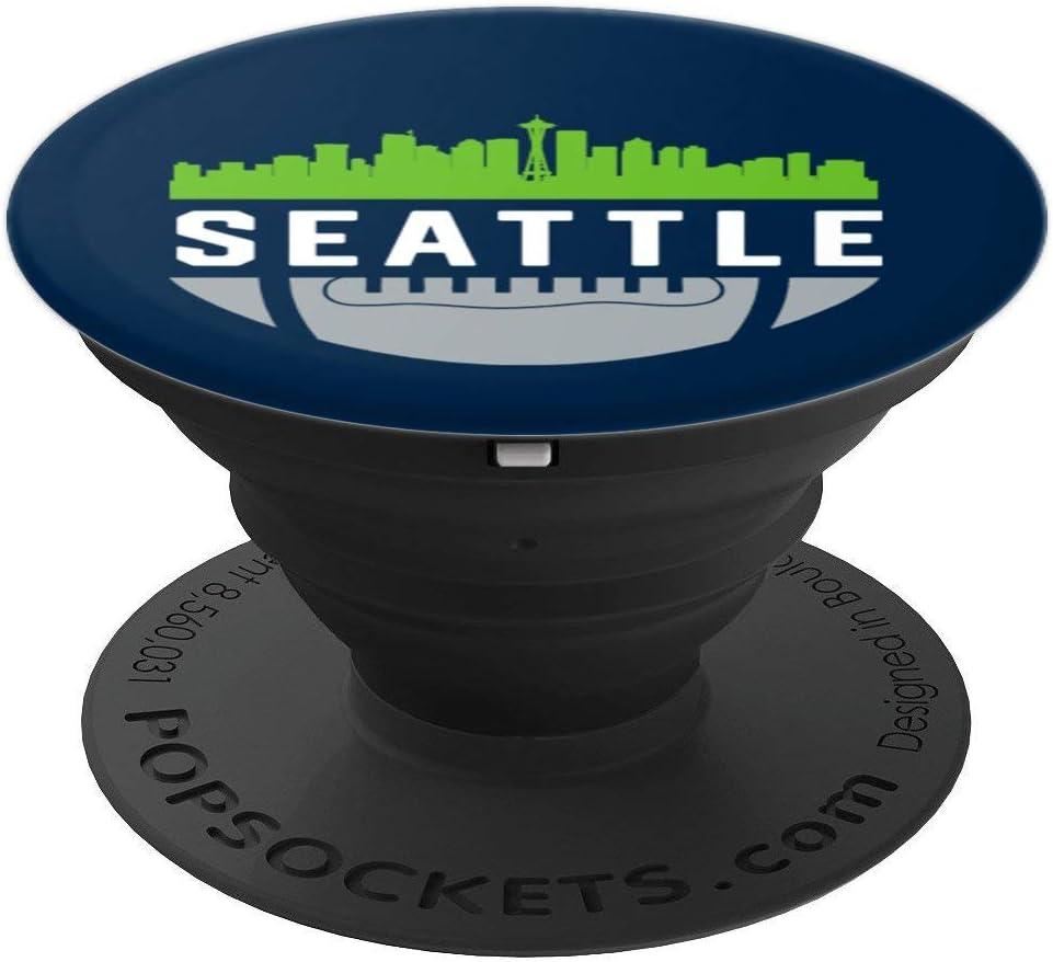 Vintage Downtown Seattle WA Skyline Football