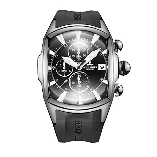 (Reef Tiger Luxury Top Brand Sport Watches Steel Analog Watches with Date Chronograph Mens Watches RGA3069-T (RGA3069-T-YBB))
