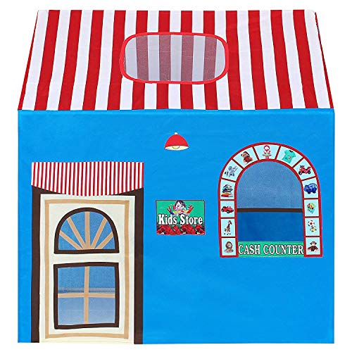 DHYANEXA Jumbo Size Extremely Light Weight , Water Proof Kids Play Tent House for 10 Year Old Girls and Boys(Happy…
