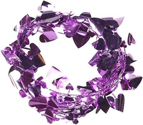 Wire Garland Heart (Amscan 22211.06 Valentine's Day Decors Item, 12', Pink)