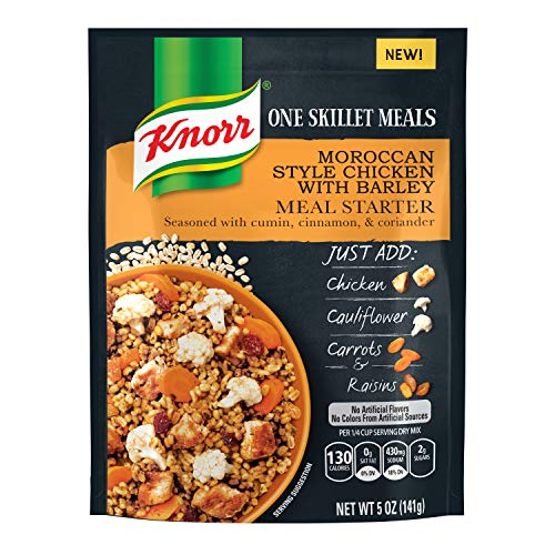 Knorr One Skillet Meals Meal Starter, Moroccan Style Chicken with Barley, 5 oz