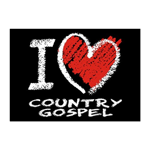 Idakoos - I love Country Gospel chalk style - Music - Sticker Pack x4 - Gospel Chalk