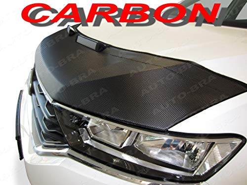- AB3-00154c Carbon Fiber Look Hood Bra fit Porsche Cayenne 2010-2014 Front End Nose Mask Bonnet Bra