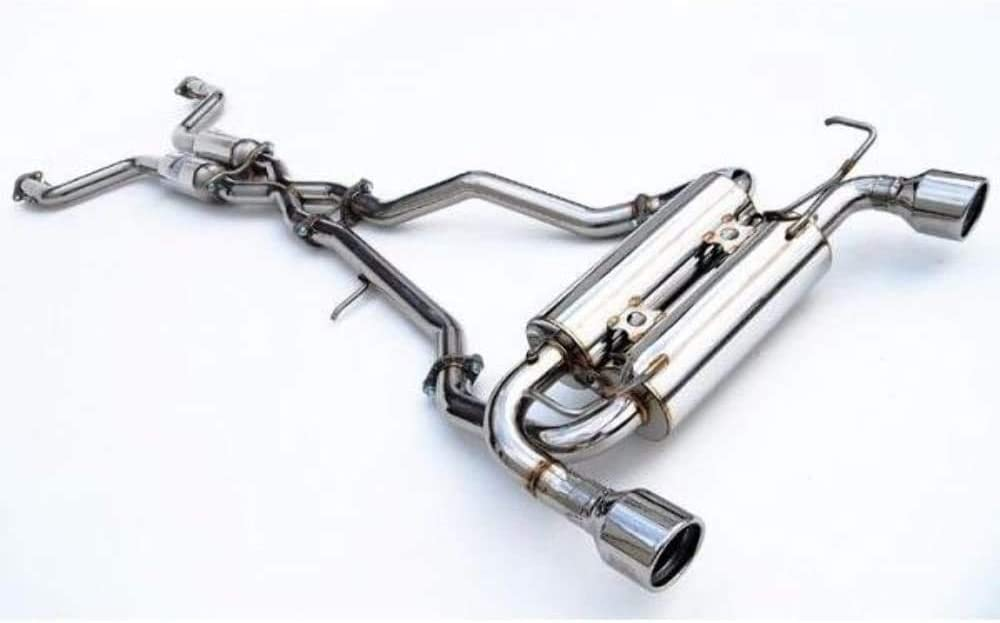 Invidia HS09N7ZGIS Gemini Cat-Back Exhaust System with Stainless Steel Rolled Tip for Nissan 370Z