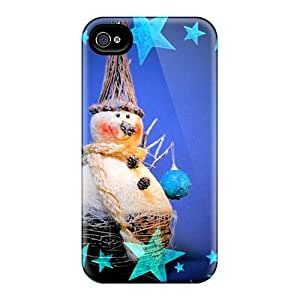 Excellent Iphone 4/4s Case Tpu Cover Back Skin Protector Snowman