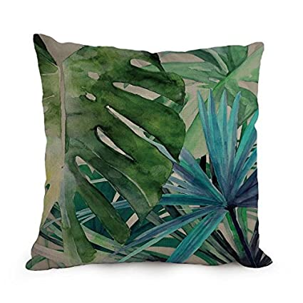 Amazon Com Tropical Throw Pillow Covers 18 X 18 Inches 45 By 45