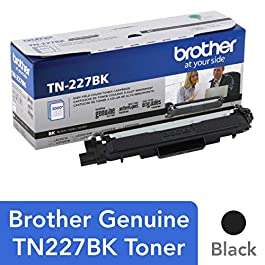 Brother Genuine TN227, TN227BK, High Yield Toner C...
