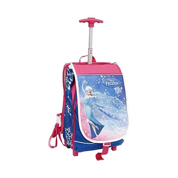qualità eccellente più colori famoso marchio di stilisti Giochi Preziosi – Zaino Trolley, Frozen, Estensibile, Patella Illuminata  con Orologio