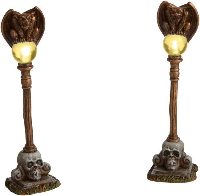 Department 56 Halloween Snow Village Gargoyle Lamp Posts