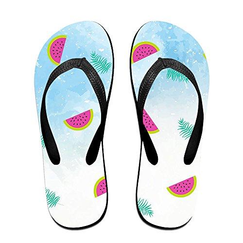 JESUS SAUCEDO Watermelon Party V Flip Flops Beach Slippers Chinela Baboosh Babouche Sandals for $<!--$25.66-->