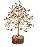 Rastogi Handicrafts Gemstone Lucky Tree Feng shui decorative Showpiece Vastu Carnelian Stone Table Decor (MIX TREE)