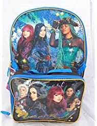Disney Descendants 2 Girls Bookbag School Backpack Lunch Box Bag Combo SET