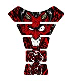 Motorcycle Devil FAH Red Sportbike Gel Tank Pad tankpad Protector Decal