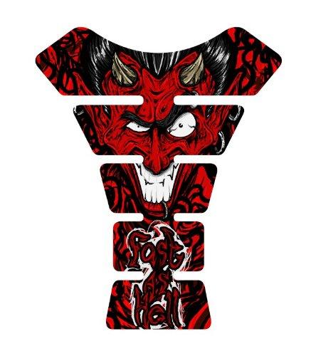 - Motorcycle Devil FAH Red Sportbike Gel Tank Pad tankpad Protector Decal