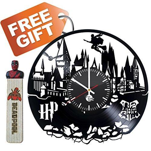 Harry Potter Handmade Vinyl Record Wall Clock Fun gift Vinta