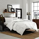 Luxury Eddie Bauer Spring and Fall Edition 650 Fill Power Hypoallergenic White Down Comforter - Warmer Weight (Oversized Queen)