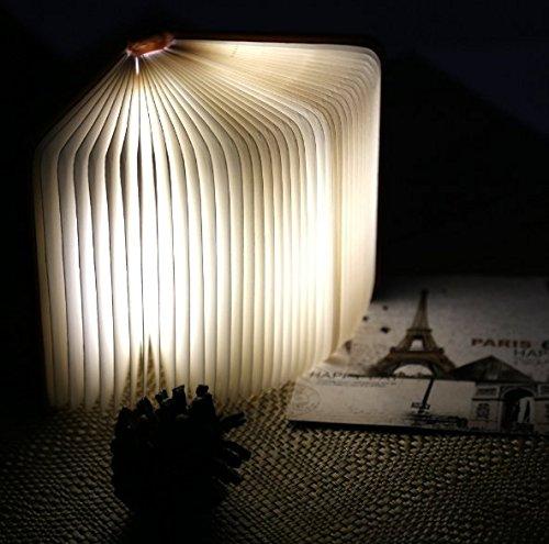 4 Colors Magic Folding LED Table Lamp Book Shaped Light