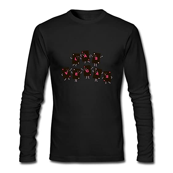 Funny Viva Las Vegas Mens Long Sleeve Cotton Crewneck T-Shirt