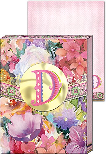Punch Studio Everyday Wildflowers Monogram Mini Pocket Note Pad (Letter D)