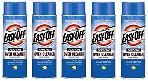 Easy-Off Professional Fume Free Max Oven Cleaner, Lemon 24 oz (5 Pack) by Easy Off