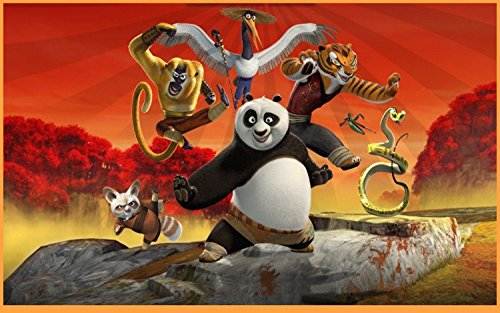 (SDore Kung Fu Panda Edible Birthday Cake Topper Frosting Icing 1/4)