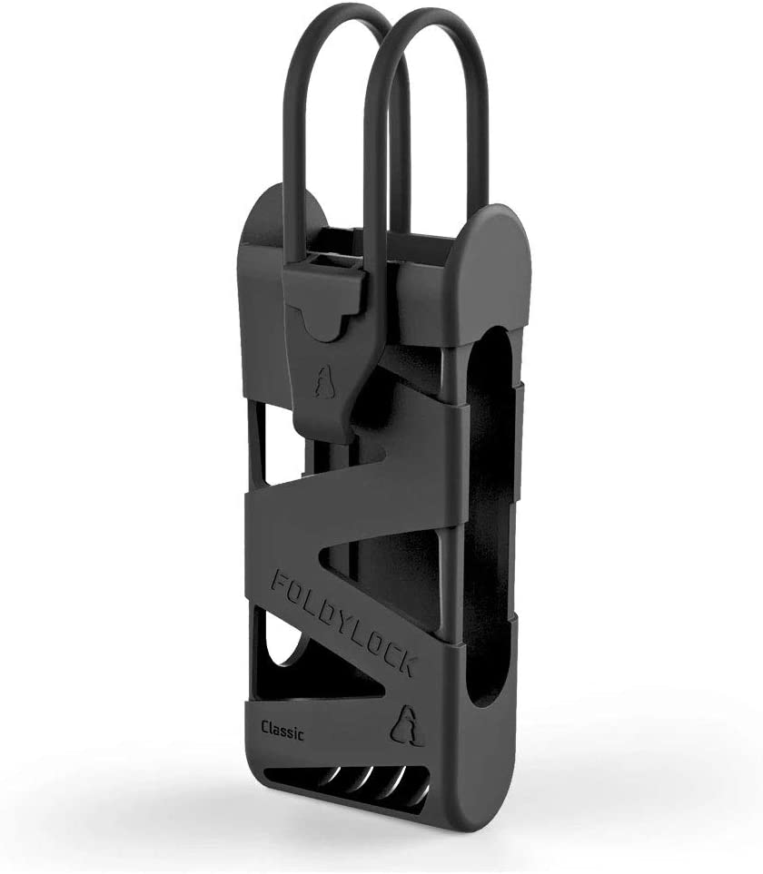 FOLDYLOCK Classic Bike Lock Mount Carrying Case Black 1 Pack