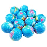 #6: Oruuum 12 Globe Squeeze Stress Balls Earth Ball - Squeeze Relief Novelty Toys