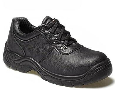 Dickies Clifton Sicherheit Schuh Leder schwarz Stahlkappe aMEfpsE