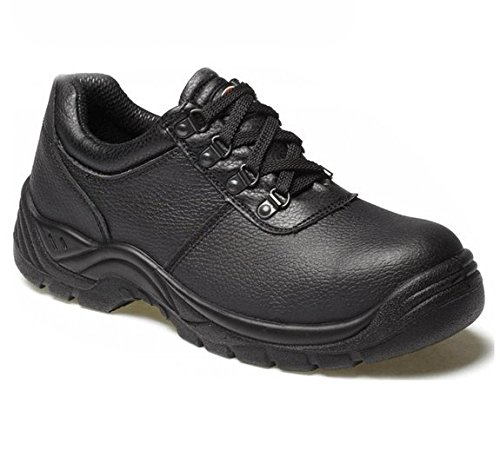 Dickies Clifton Safety Shoe Black Leather Steel Toe eX5b7