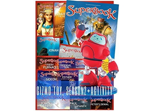 Superbook Gizmo Toy, Season 2 Full Set (13 Episodes) + Activity Book ()