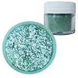 Teal Blue-Green Edible Tinker Dust 4g | Bakell™ Food Grade Decorating Glitters & Dusts for Dessert, Foods & Drinks