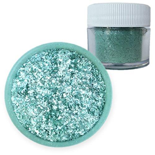Bulk Size | Teal Blue-Green Tinker Dust Edible Glitter 25g Jar | Bakell Food Grade Gourmet Dessert, Foods, Drink Garnish Pearlized Shimmer Sparkle Sprinkle